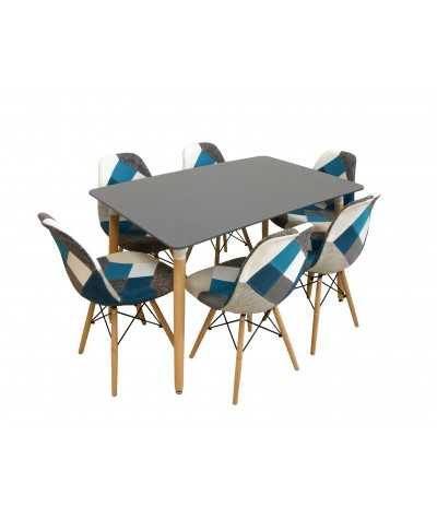4 CHAIRS PALERMO C + TABLE...